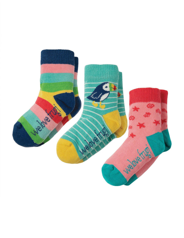 Little socks - 3 pack - rainbow Frugi