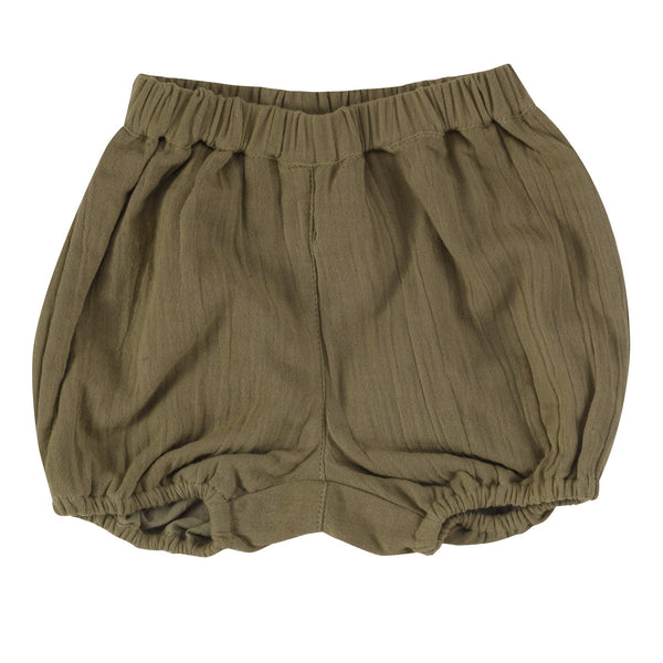 Bloomers muslin olive Pigeon Bottoms Pigeon Organics