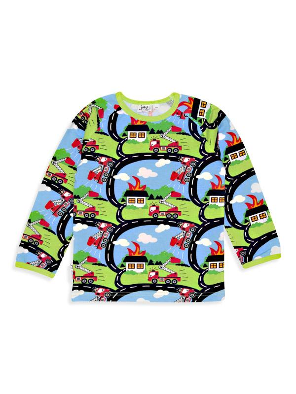 Shirt long sleeve firetruck