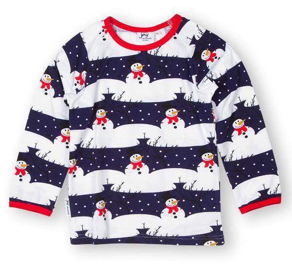 Snowman top Tops JNY colourful kids
