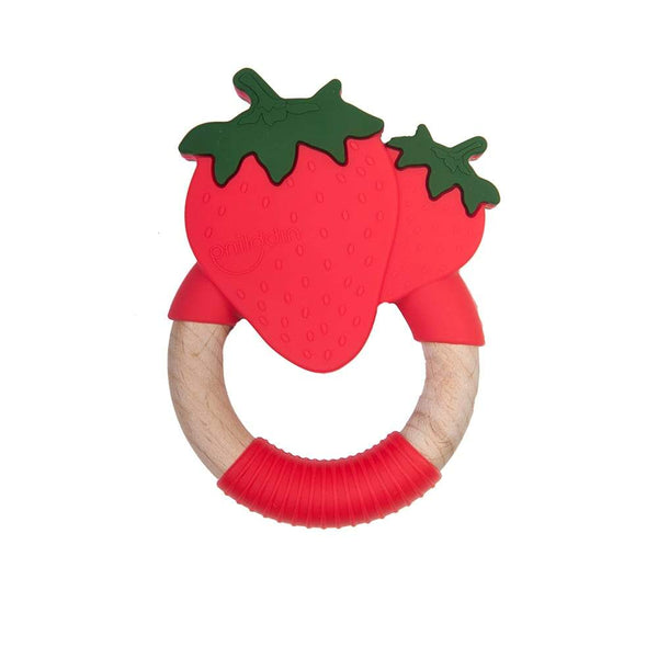 Strawberry teething toy Nibbling Toys Nibbling
