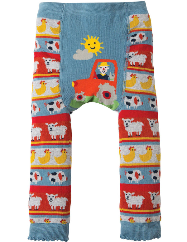 Little knitted leggings - tractor