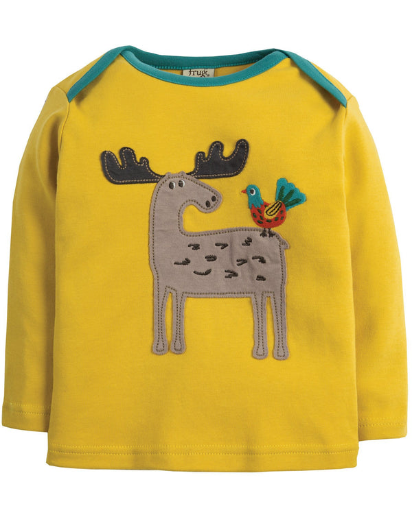 Moose applique top Frugi