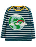 Earth applique top Frugi