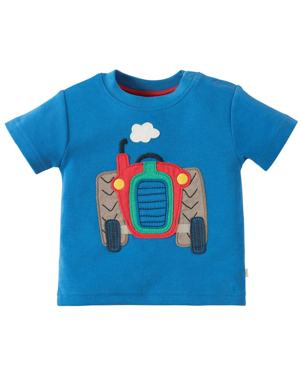Little wheels applique top