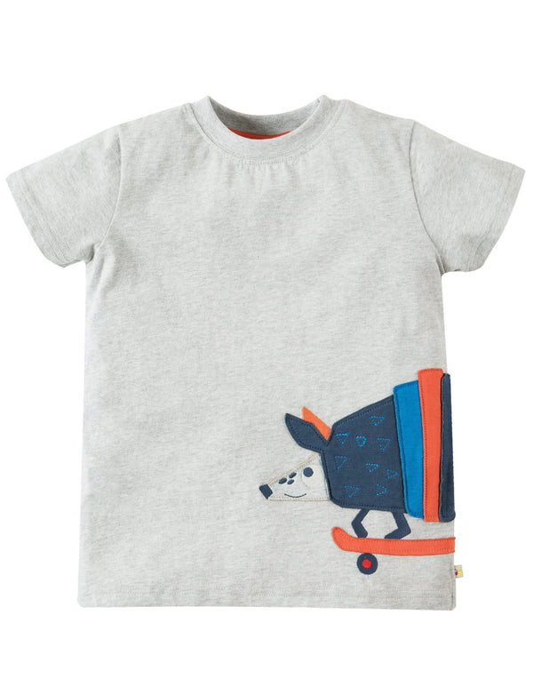 James applique t-shirt - armadillo