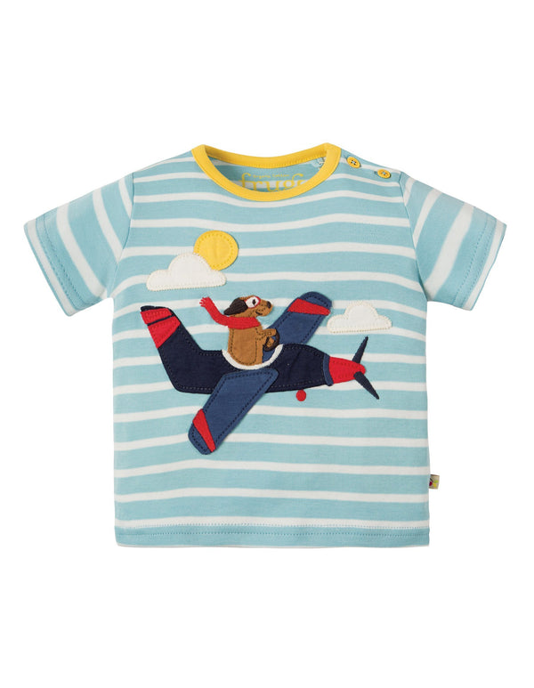 Plane applique t-shirt Frugi