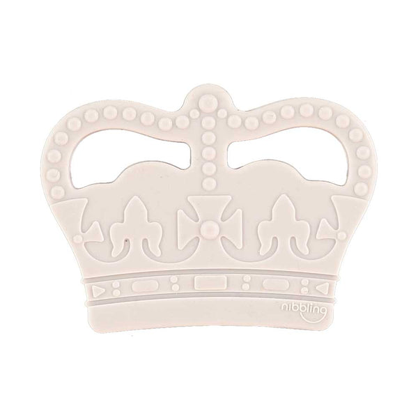 Crown teether grey Nibbling Toys Nibbling