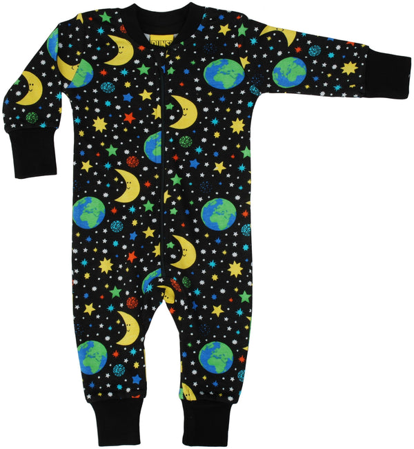 Zip suit Mother Earth black Duns Sweden Playsuit Duns Sweden
