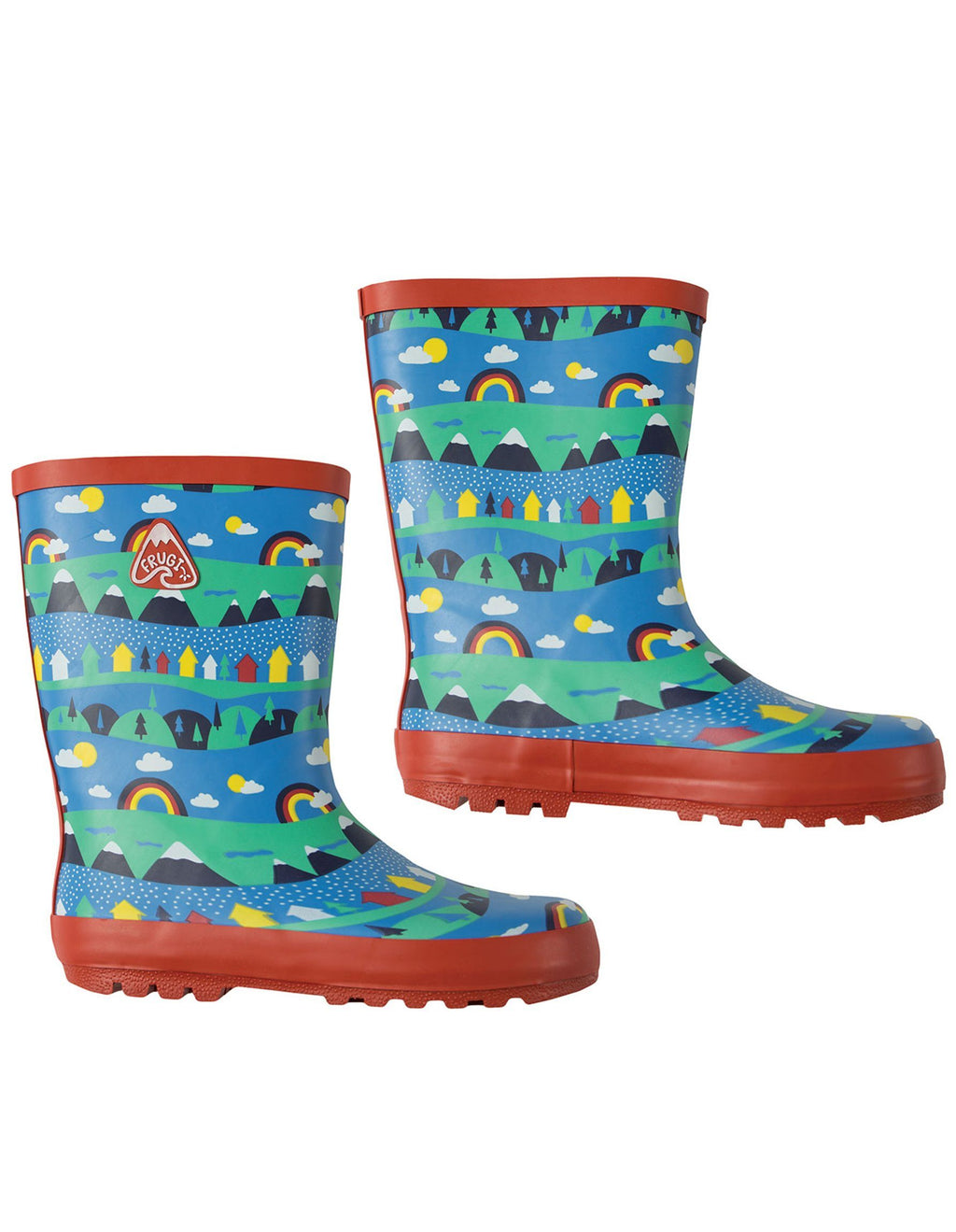 Puddle buster wellington boots - sail away alpine town