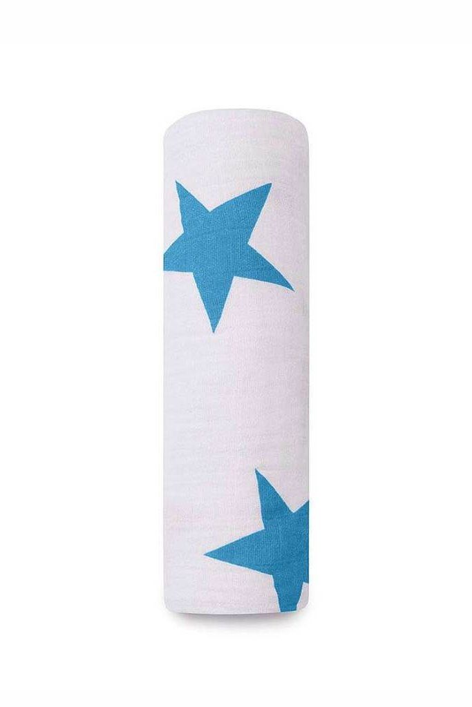 Brilliant blue swaddle muslin