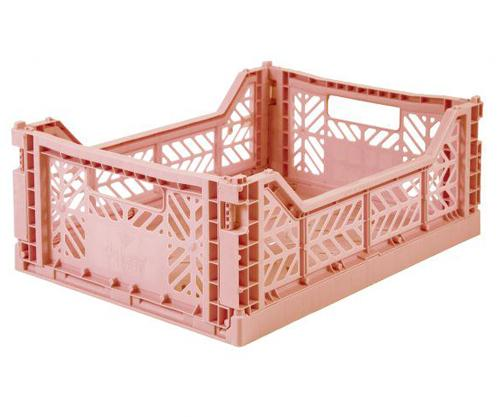 Medium milk tea folding crate Aykasa