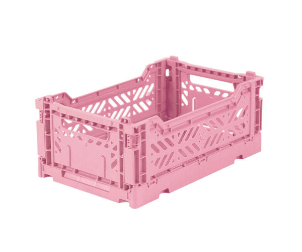 Mini baby pink folding crate Aykasa