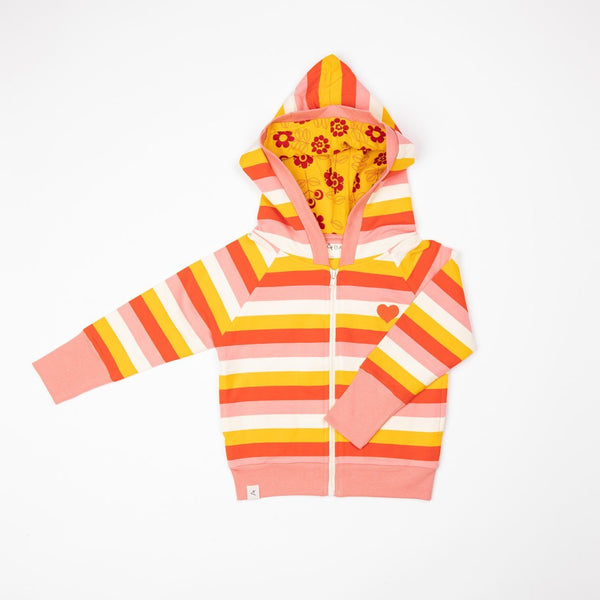 All time zipper hood strawberry ice stripes AlbaBaby Tops Alba of Denmark