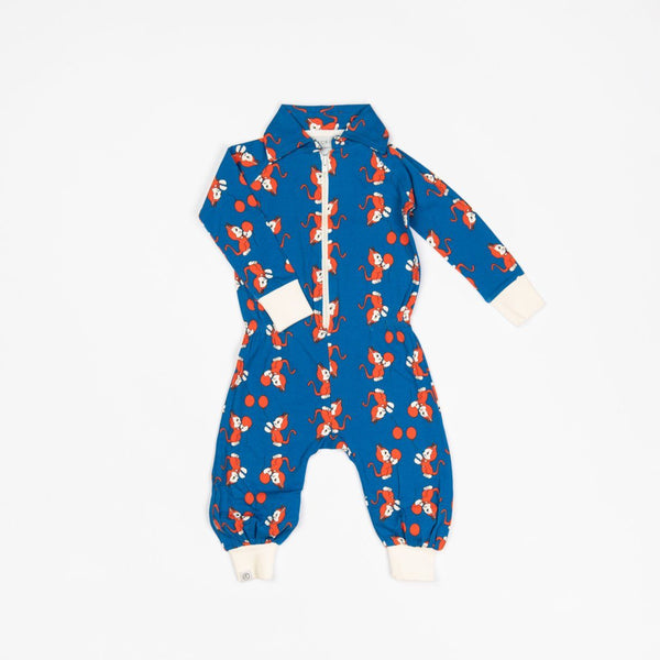 Balloon flipsuit snorkel blue the cat and the balloon AlbaBaby Playsuit Alba of Denmark