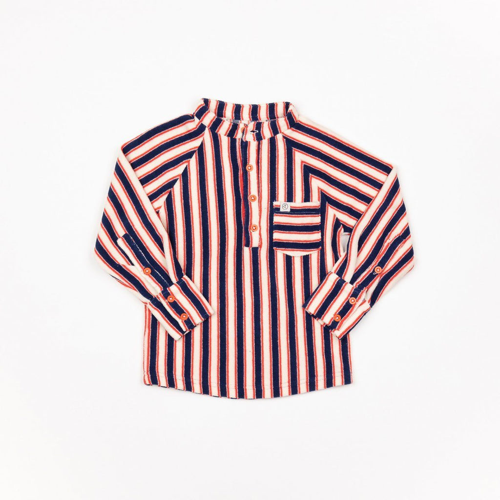 Emil blouse blueprint striped AlbaBaby Tops Alba of Denmark