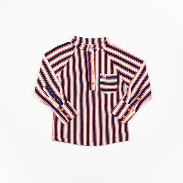 Emil blouse blueprint striped AlbaBaby