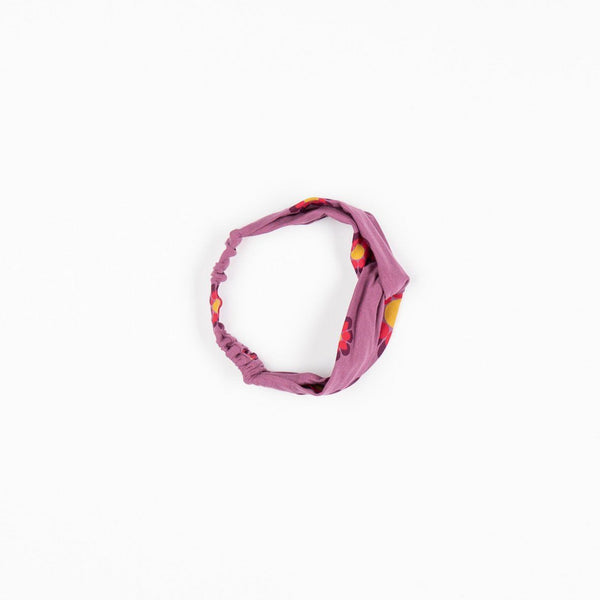 Hana bandana bordeaux flower power love AlbaBaby hairband Alba of Denmark