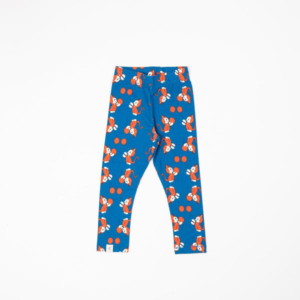 Haniella leggings snorkel bluethe cat and balloon AlbaBaby Bottoms Alba of Denmark