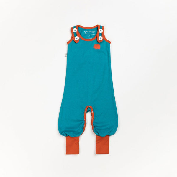 Happy crawlers atoll blue AlbaBaby Dungarees Alba of Denmark