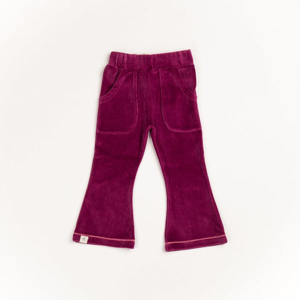 Katrine trumpet pants boysenberry AlbaBaby Pants Alba of Denmark
