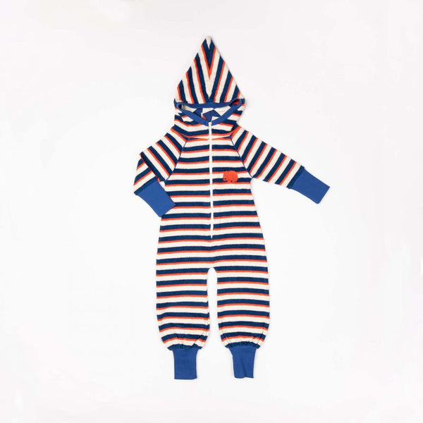 Kim jumpsuit solidate blue striped AlbaBaby