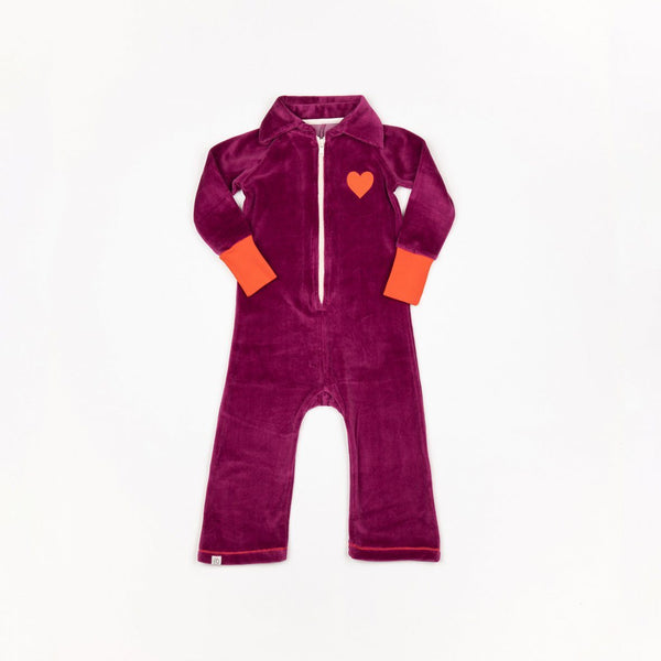 Lemar flipsuit boysenberry AlbaBaby Playsuit Alba of Denmark