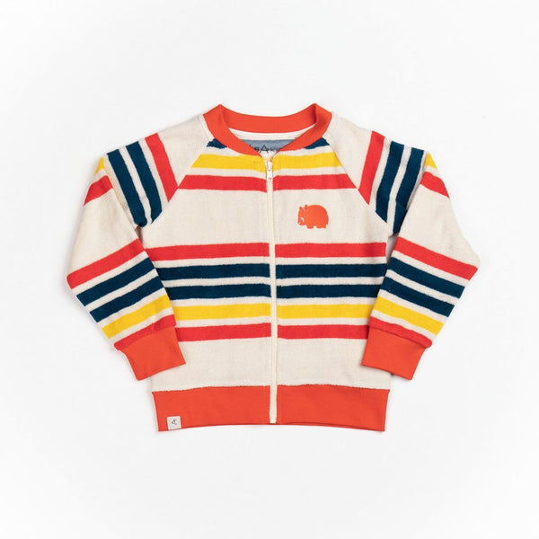 Liva Jacket multi magic rainbow stripes AlbaBaby