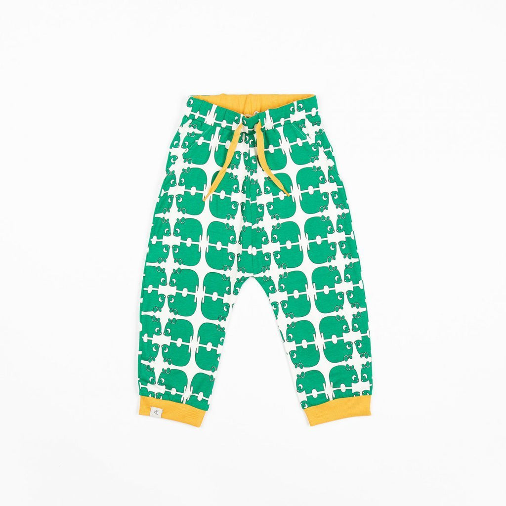 Lucca baby pants pepper green wanna be an animal AlbaBaby Bottoms Alba of Denmark