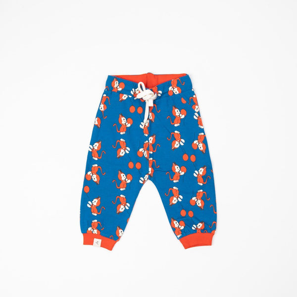 Lucca baby pants snorkel blue the cat and the balloon AlbaBaby Bottoms Alba of Denmark