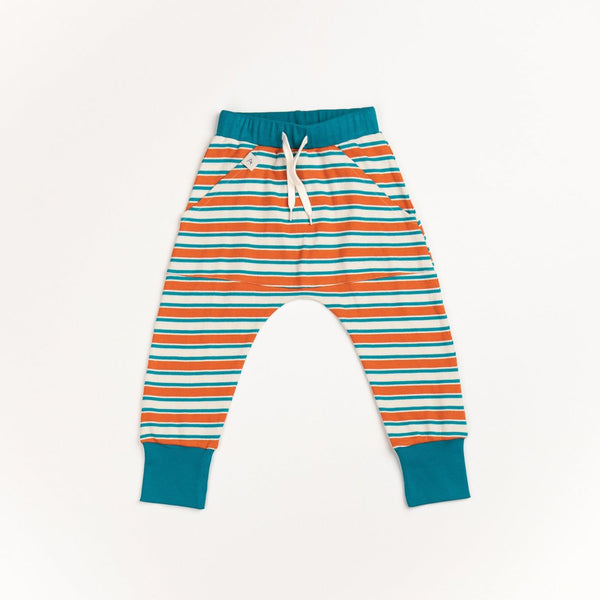 Magnus pants rust striped AlbaBaby Bottoms Alba of Denmark