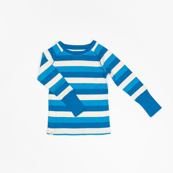 Our favourite rib blouse snorkel blue stripes AlbaBaby Tops Alba of Denmark
