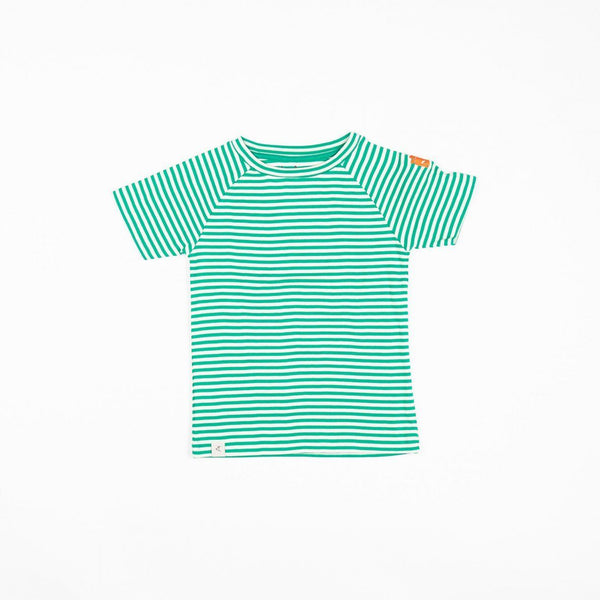Sigurd t-shirt pepper green magic stripes AlbaBaby Tops Alba of Denmark