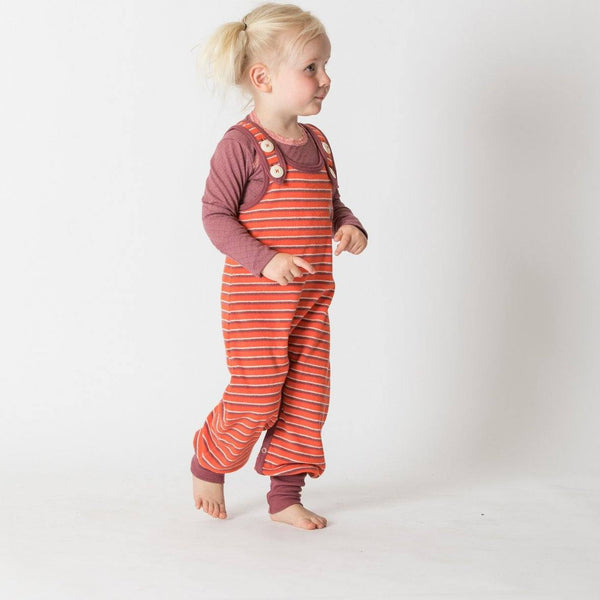 Hedashy crawlers - fiesta striped Dungarees Alba of Denmark