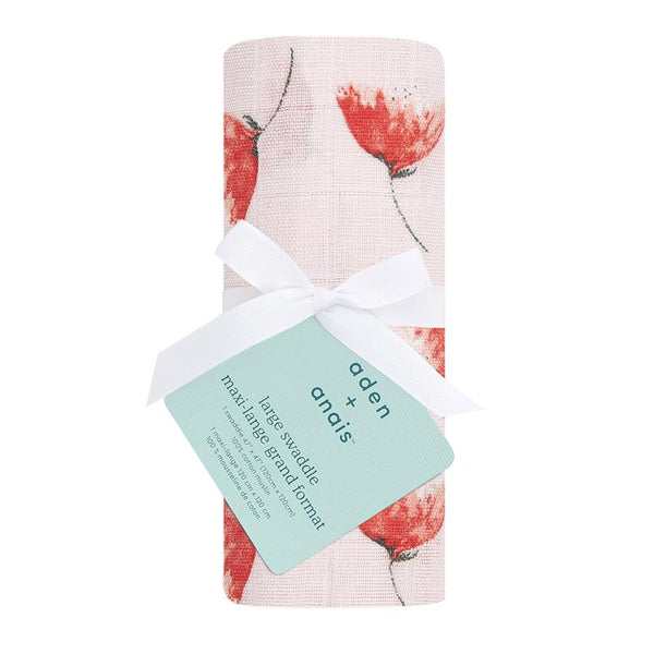 Picked for you poppies classic muslin swaddle aden + anais Muslin Aden + Anais