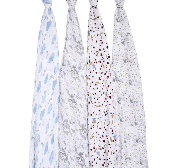 Harry Potter swaddle muslins - 4 pack Muslin Aden + Anais