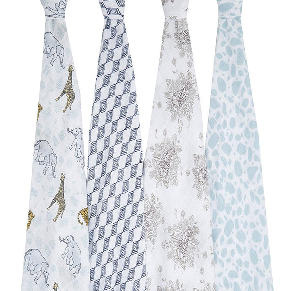 Jungle swaddle muslins - 4 pack