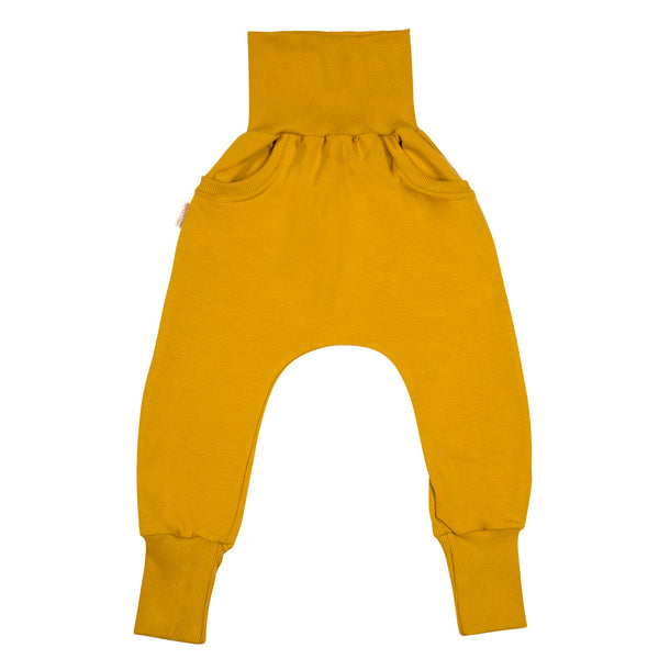 Mustard baggy pants pockets Malinami