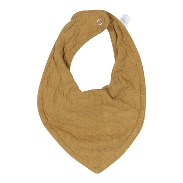Ochre bandana bib Little Dutch