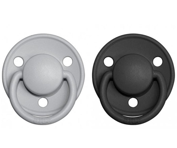 2-pack Bibs De Lux 0-6 M cloud black Pacifier Bibs