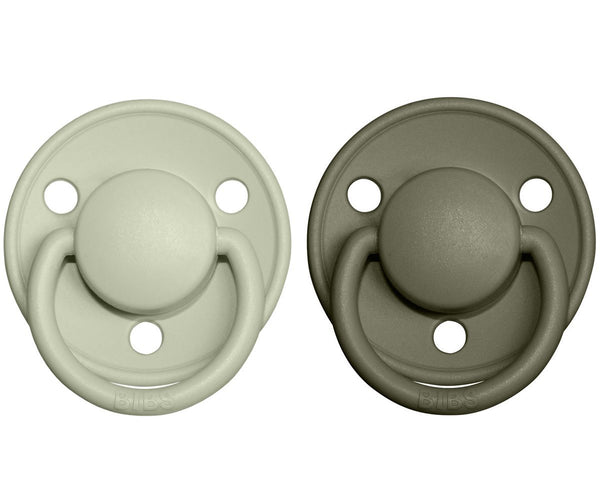 2-pack Bibs De Lux 0-6 M sage hunter green Pacifier Bibs