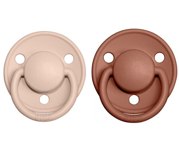 2-pack Bibs De Lux 6-18 M blush woodchuck Pacifier Bibs