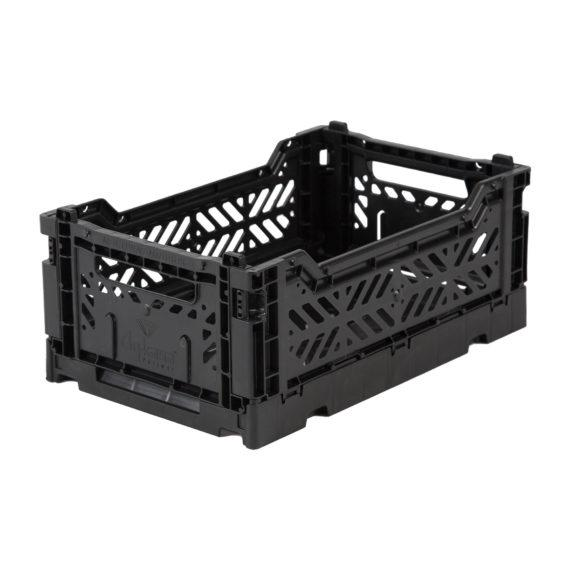 Mini black folding crate Aykasa