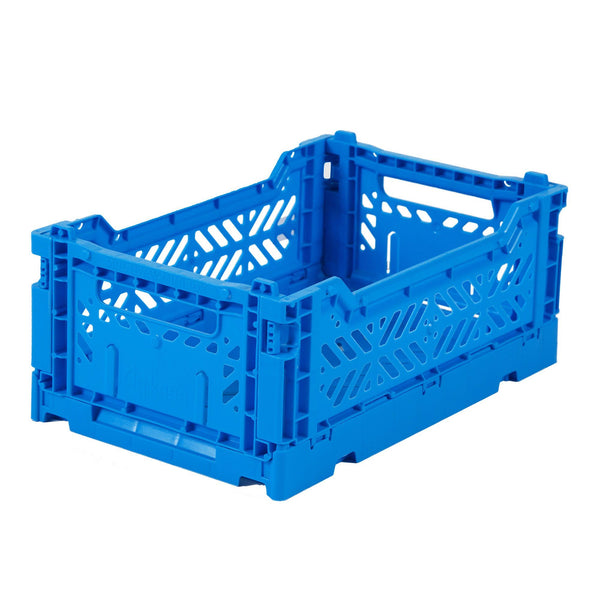 Mini blue folding crate Aykasa