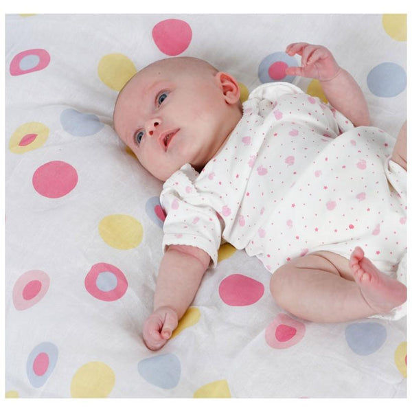 Muslin swaddle bubble spot