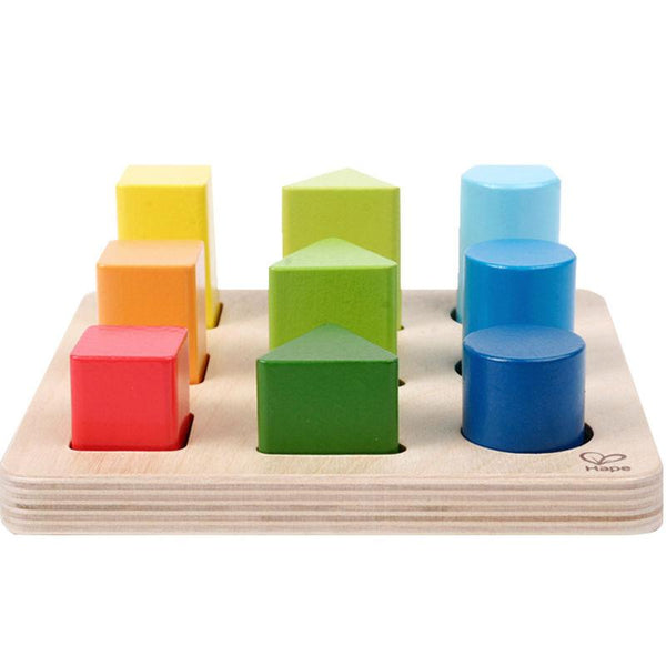 Color & shape wooden block sorter Hape