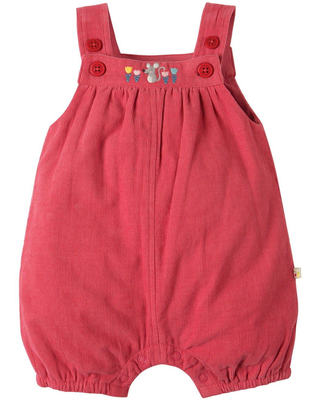 Dinky cord dungarees - vintage rose
