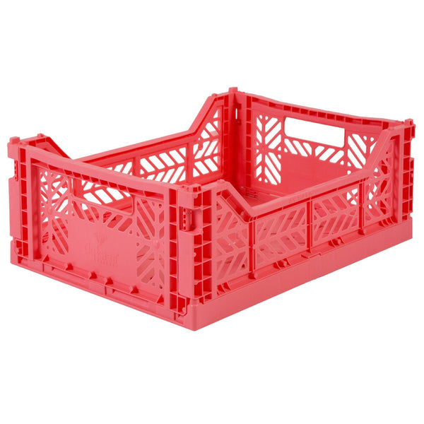 Medium dark pink folding crate Aykasa