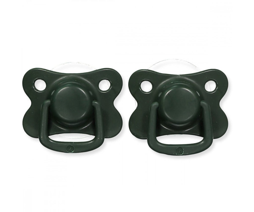 Pacifiers 2-pack dark green +6M Filibabba accessories Filibabba