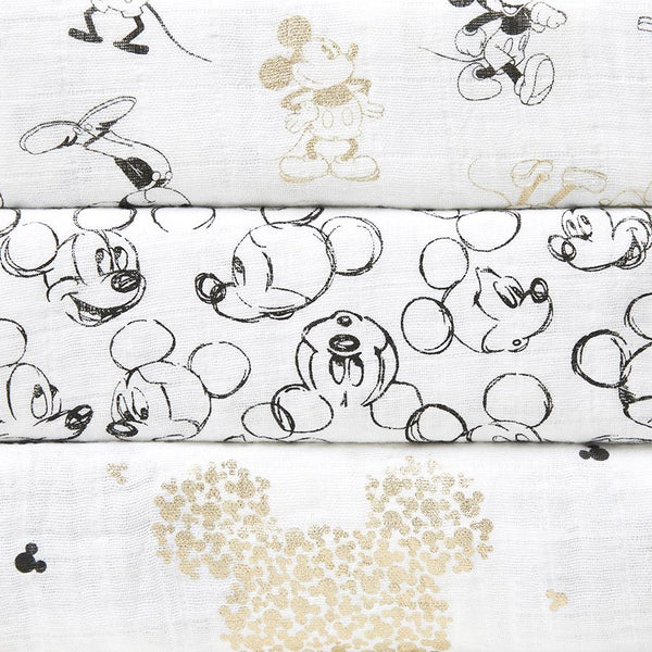 Muslin squares Mickey 3-pack